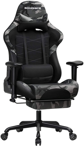Songmics Gaming Chair in Camouflage Fabric